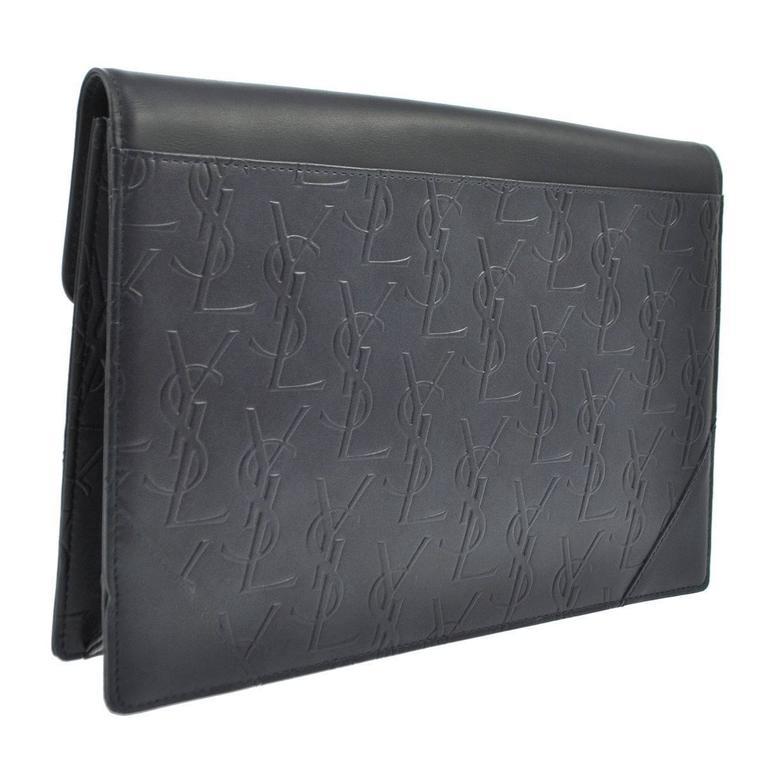Yves Saint Laurent Ysl Monogram Leather Long Envelope