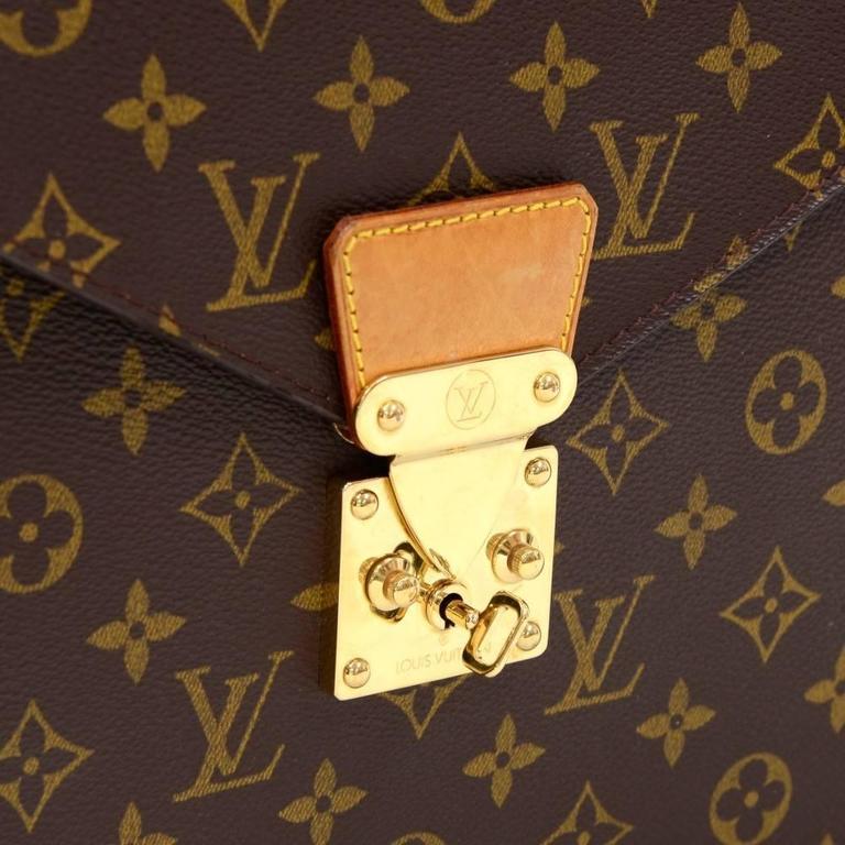 Louis Vuitton Vintage Rare Monogram Canvas Men\'s Briefcase Laptop ...