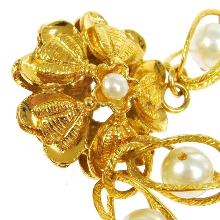 Chanel Rare Vintage Gold Shell Charm Double Strand Link ...