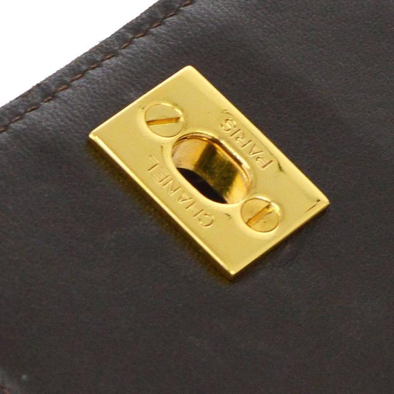 Chanel Crocodile Gold Kelly Evening Top Handle Satchel Bag 2