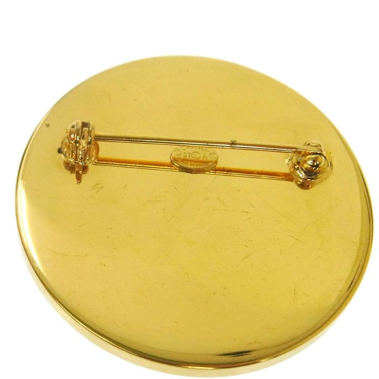 Chanel Two Tone Gold Silver Charm Brooch  In Good Condition In Chicago, IL