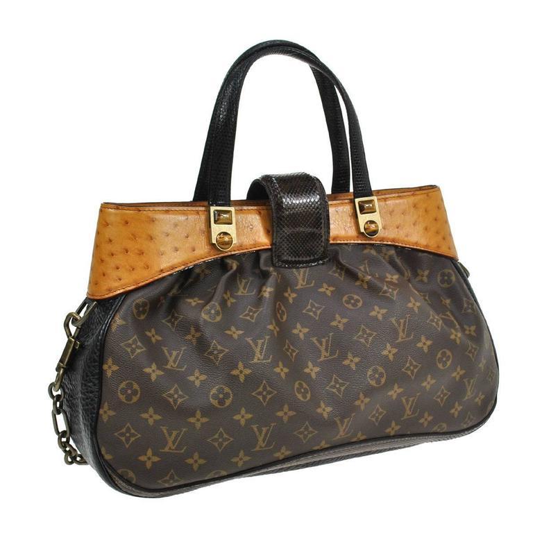 Louis Vuitton Limited Edition Monogram Ostrich Snake Top ...