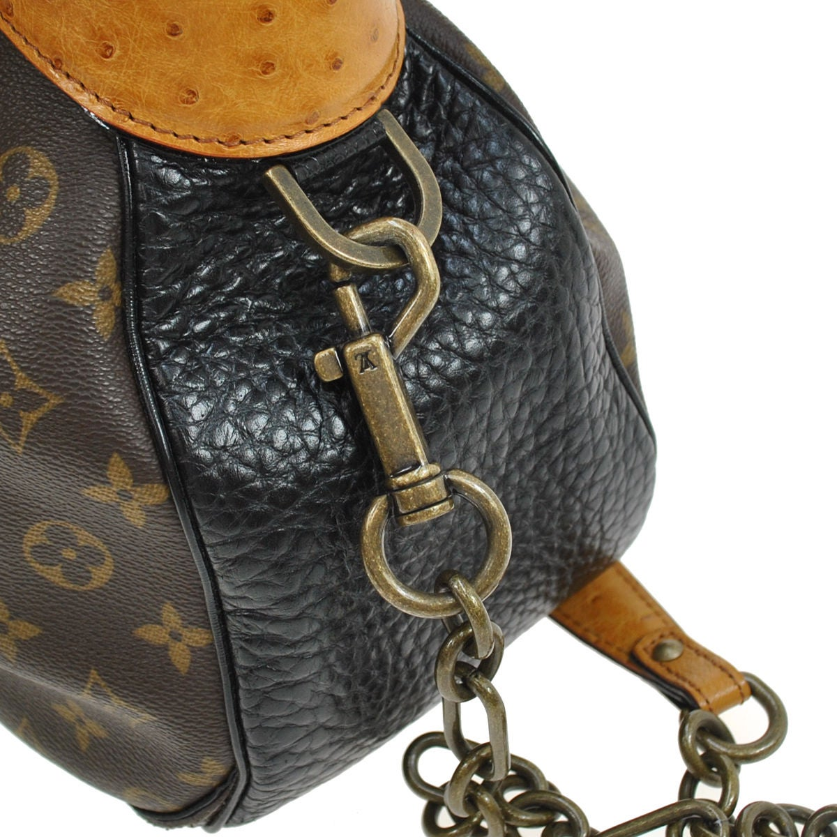 Louis Vuitton Limited Edition Monogram Ostrich Snake Top Handle Shoulder Bag  For Sale at 1stdibs b70f6979b56a4