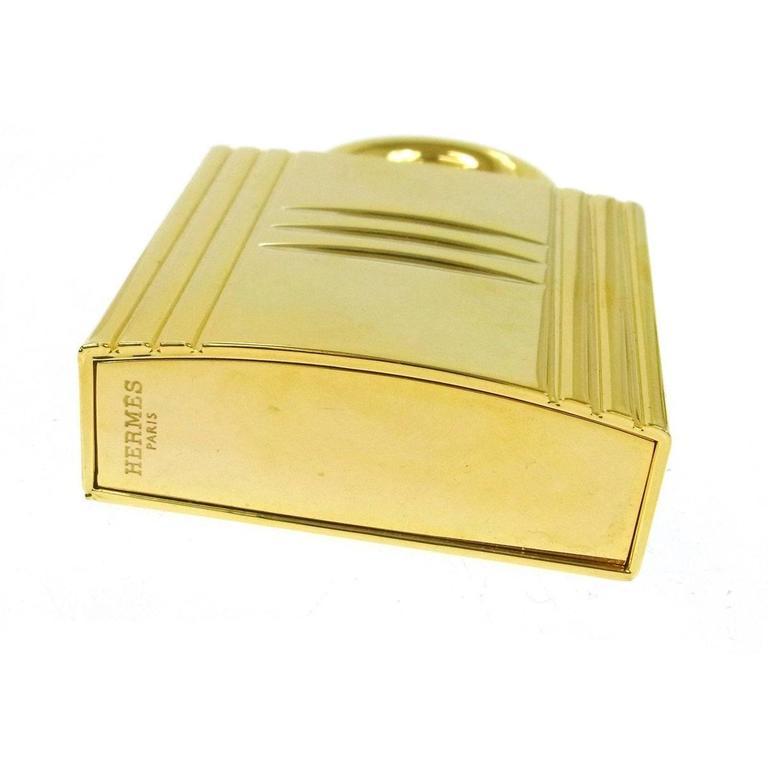 Hermes Cadena Lock Men's Women's Travel Storage Scent Atomizer In Box In Good Condition For Sale In Chicago, IL