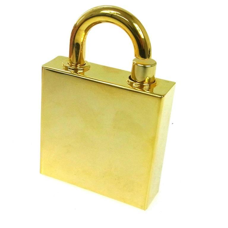 Orange Hermes Cadena Lock Men's Women's Travel Storage Scent Atomizer In Box For Sale