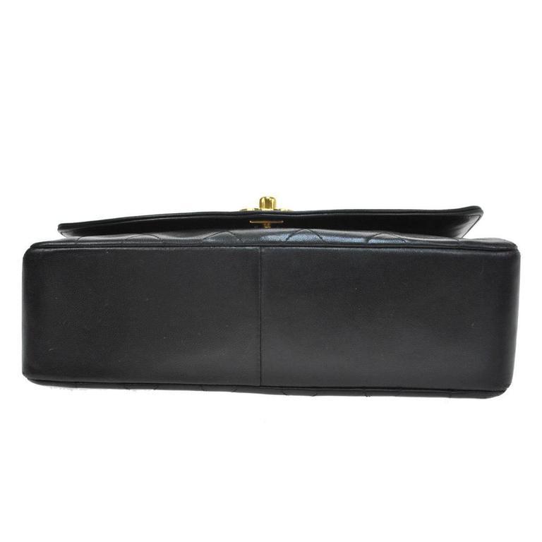 Chanel Black Lambskin Evening Flap Shoulder Bag 5