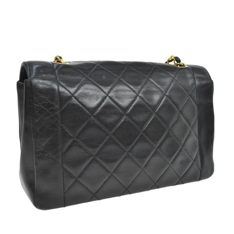 Chanel Black Lambskin Evening Flap Shoulder Bag 4