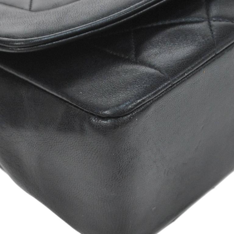 Chanel Black Lambskin Evening Flap Shoulder Bag 6