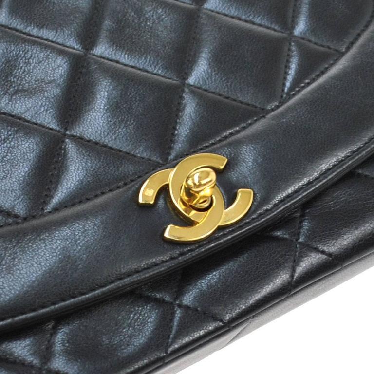 Chanel Black Lambskin Evening Flap Shoulder Bag 2