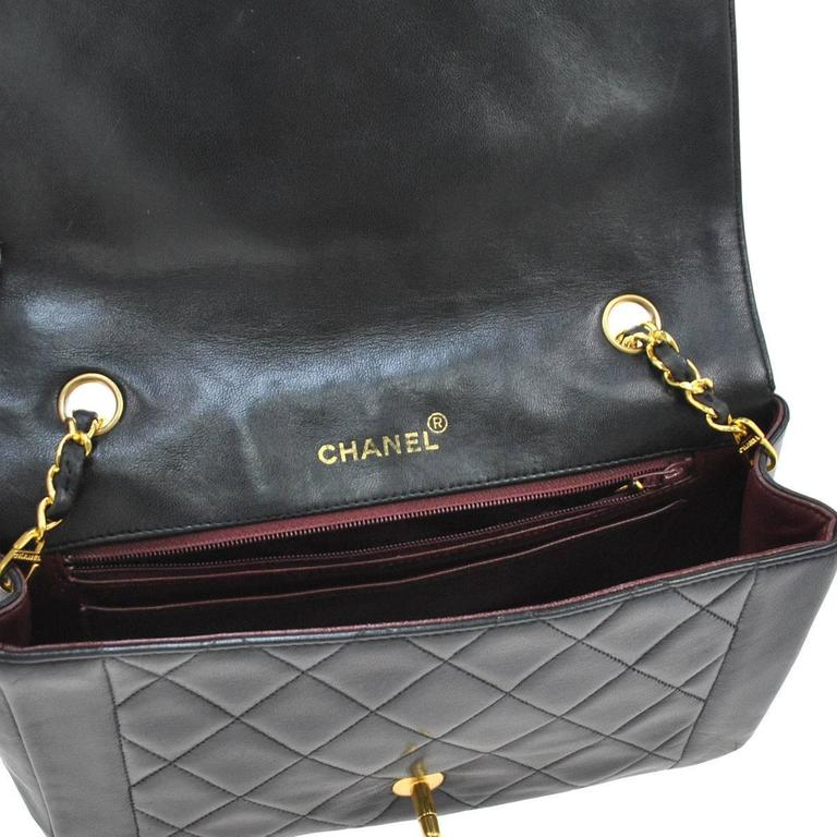 Chanel Black Lambskin Evening Flap Shoulder Bag 7