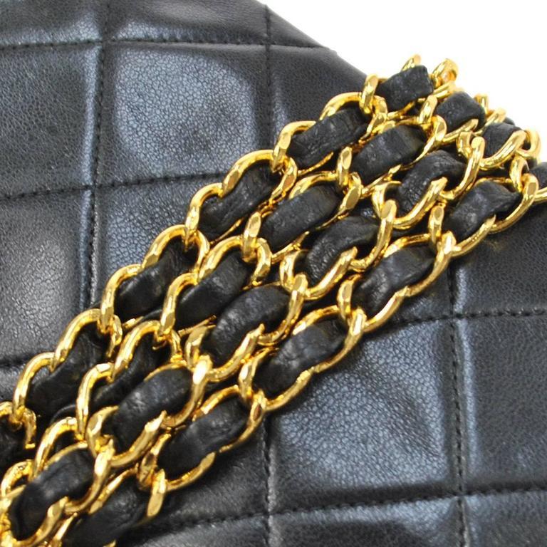 Chanel Black Lambskin Evening Flap Shoulder Bag 3
