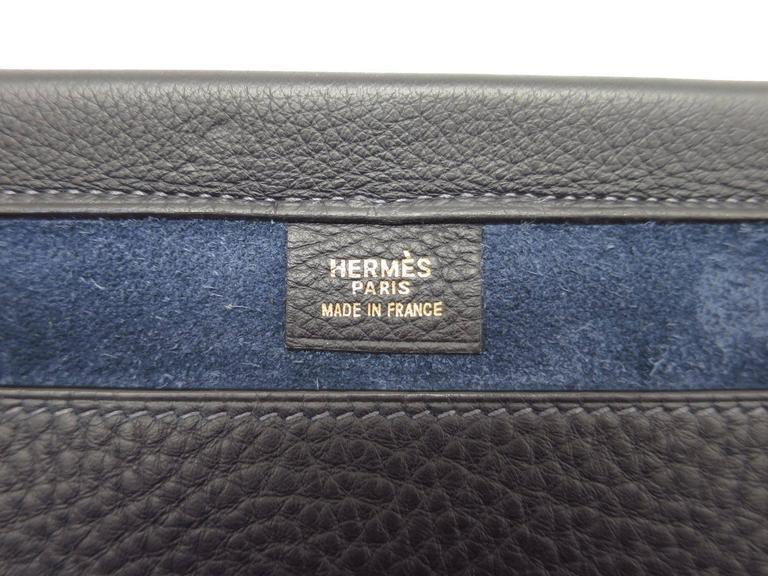 Hermes Leather Oversize Carryall Briefcase Travel Shopper Shoulder Tote Bag For Sale 1