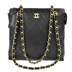 Chanel Caviar Quilted Carryall Shopper Bag