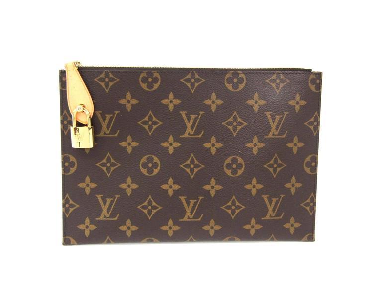Louis Vuitton Monogram Mens Womens Carryall Laptop Travel Briefcase Clutch Bag UNAnVcTkvc