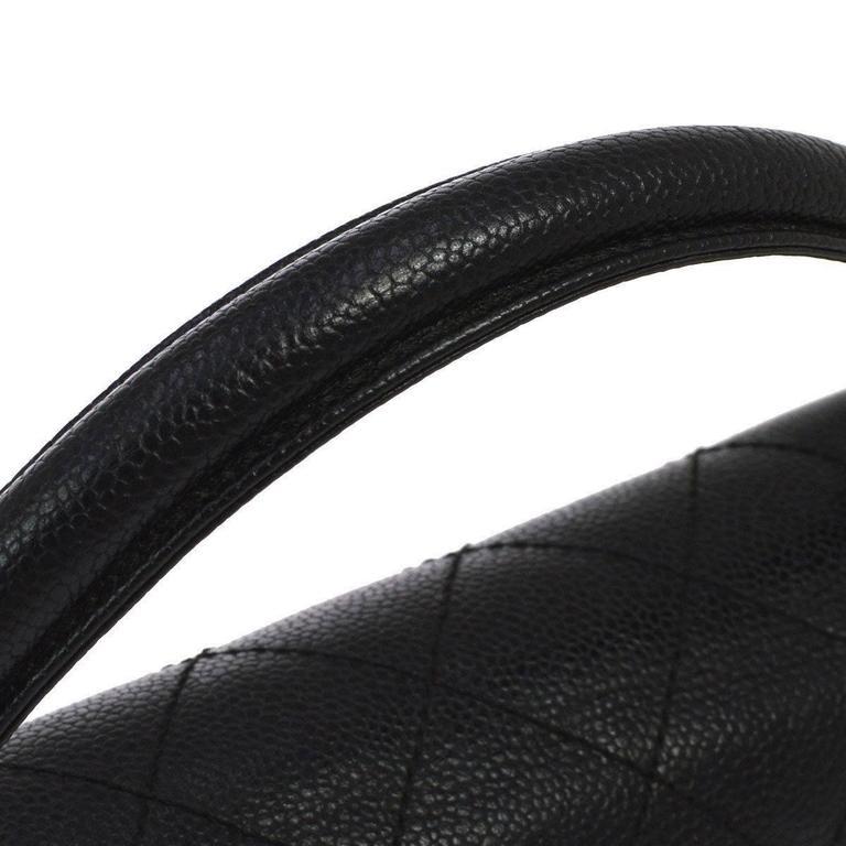 Chanel Rare Caviar Kelly Style Evening Top Handle Satchel Flap Bag 2