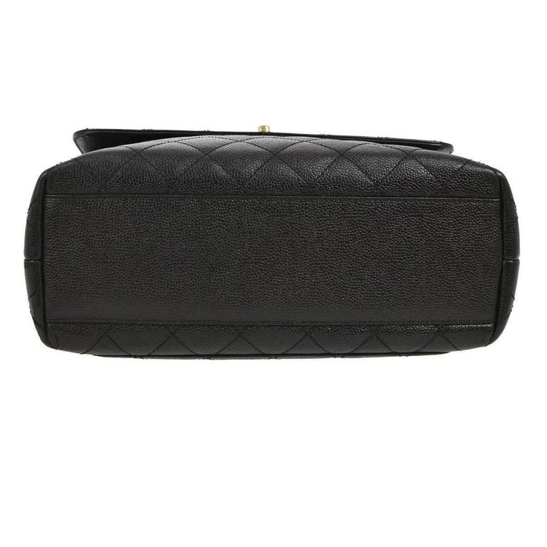 Chanel Rare Caviar Kelly Style Evening Top Handle Satchel Flap Bag 5