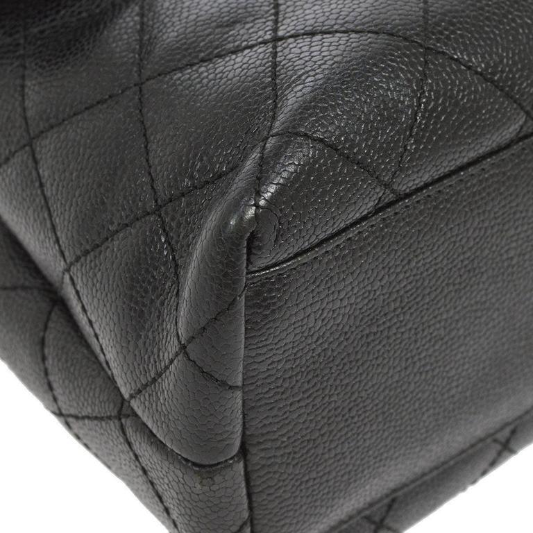Chanel Rare Caviar Kelly Style Evening Top Handle Satchel Flap Bag 6