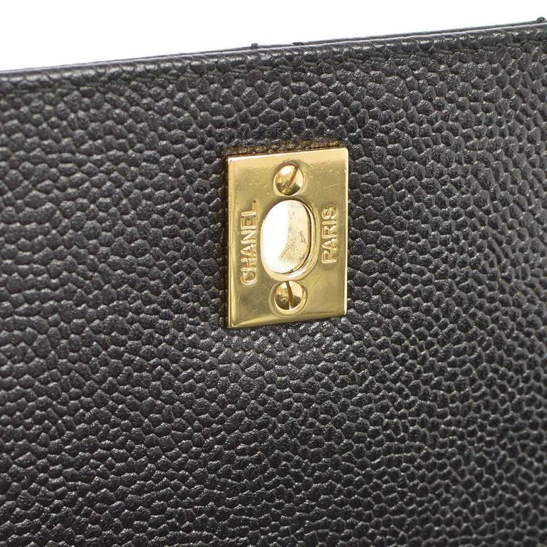 Chanel Rare Caviar Kelly Style Evening Top Handle Satchel Flap Bag 3
