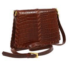 Yves Saint Laurent Vintage Rust Leather Evening Shoulder Flap Bag