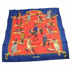 Hermes Vintage Multi Color Silk Scarf