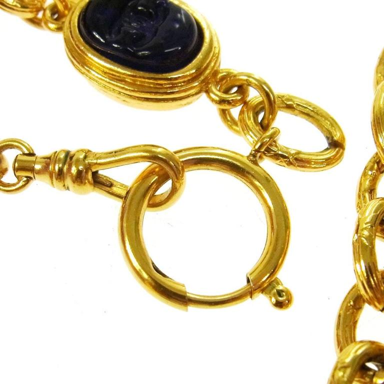Chanel Vintage Rare Multi Gripoix Gold Charm Evening Drape Necklace in Box 5
