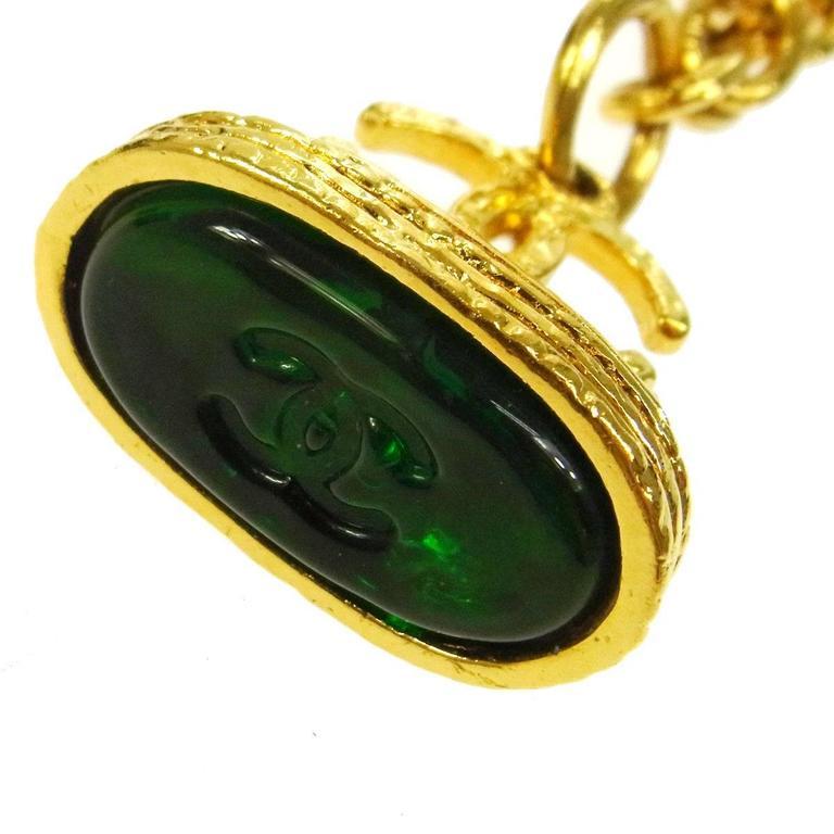 Chanel Vintage Rare Multi Gripoix Gold Charm Evening Drape Necklace in Box 3