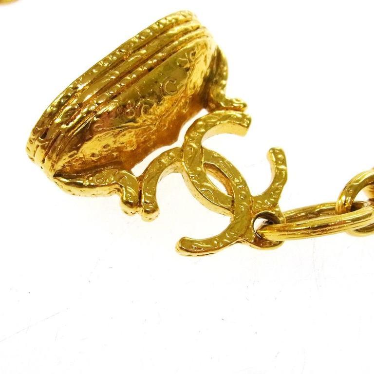 Chanel Vintage Rare Multi Gripoix Gold Charm Evening Drape Necklace in Box 4