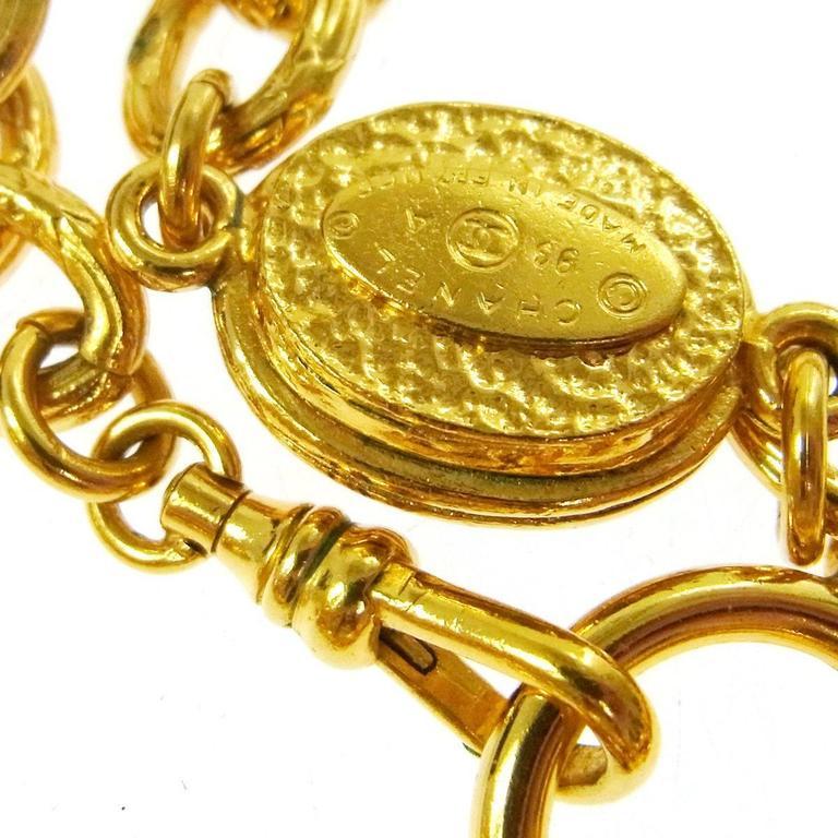 Chanel Vintage Rare Multi Gripoix Gold Charm Evening Drape Necklace in Box 6