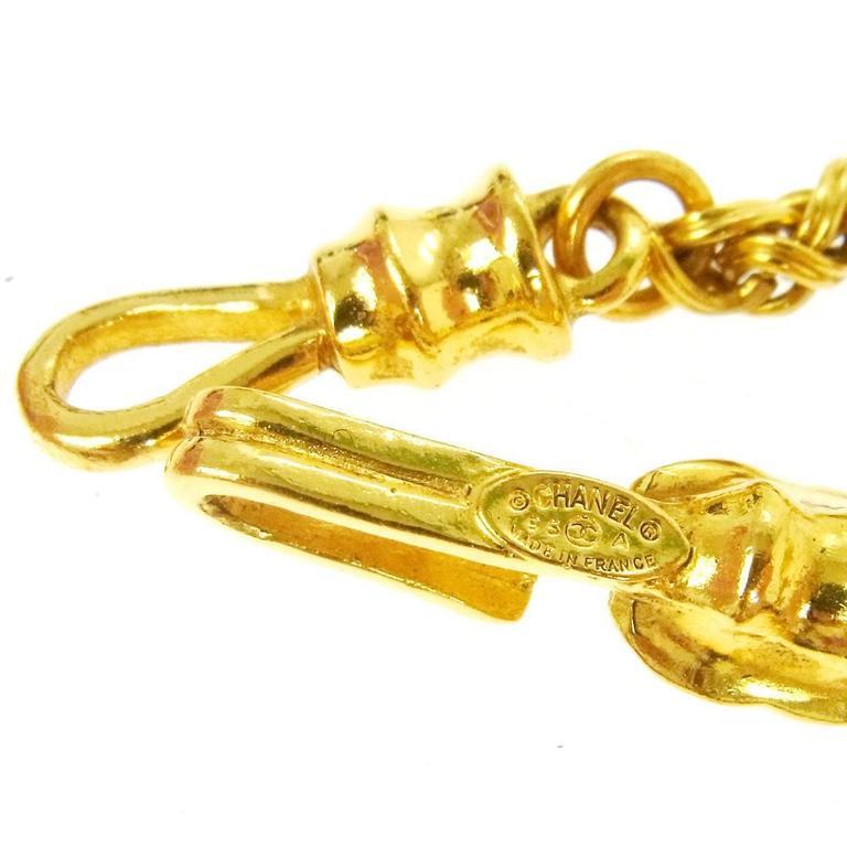 Women's Chanel Vintage Rare Gripoix Gold Multi Point Charm Evening Drape Necklace For Sale