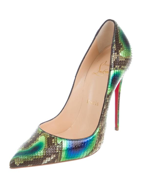 27ef32eedcb Christian Louboutin NEW SOLD OUT Rainbow Snakeskin Evening Pumps Heels in  Box