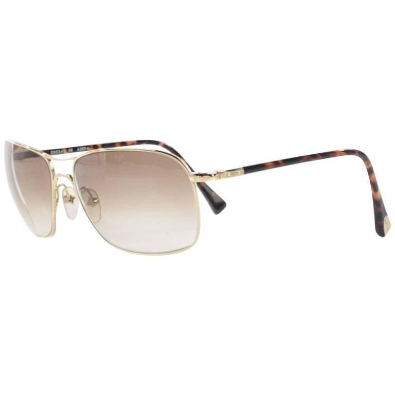 Louis Vuitton Gold Tortoise Men's Women's Unisex Aviator ...