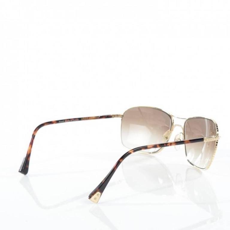 da4136c8c0a Louis Vuitton Gold Tortoise Men s Women s Unisex Aviator Sunglasses W Case    Box For Sale