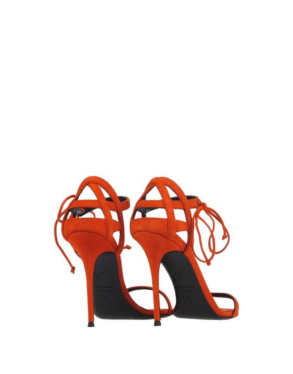 Giuseppe Zanotti New Suede Cage Cut Out Sandals Heels in Box  4