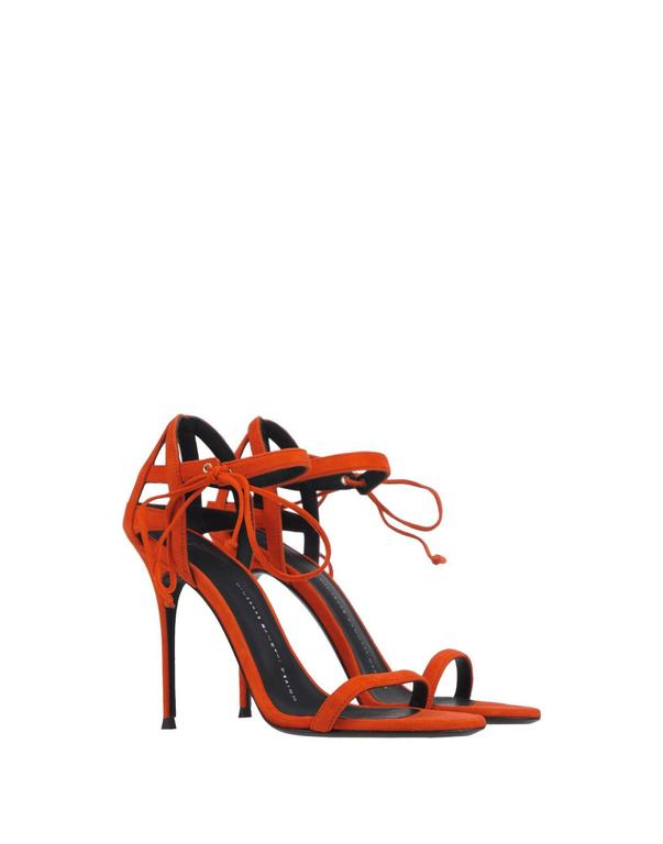 Giuseppe Zanotti New Suede Cage Cut Out Sandals Heels in Box  2