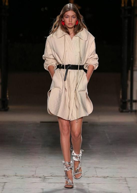 Isabel Marant New Sold Out Runway Nude Leather Wraparound Sandals Heels in Box 2
