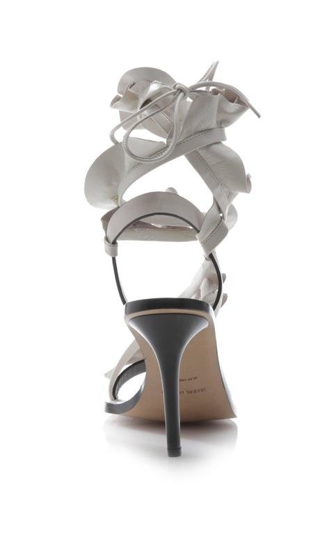 Isabel Marant New Sold Out Runway Nude Leather Wraparound Sandals Heels in Box 6