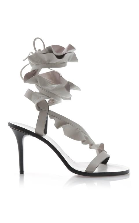 Isabel Marant New Sold Out Runway Nude Leather Wraparound Sandals Heels in Box 5