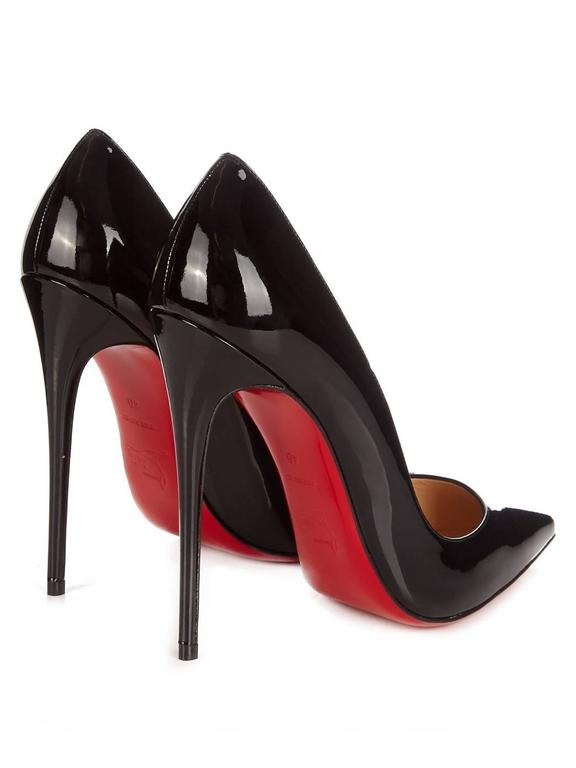 Christian Louboutin New Black Patent Leather So Kate High Heels Pumps in Box For Sale 1