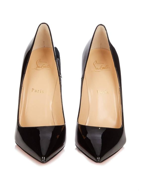 Christian Louboutin New Black Patent Leather So Kate High Heels Pumps in Box In New Condition For Sale In Chicago, IL