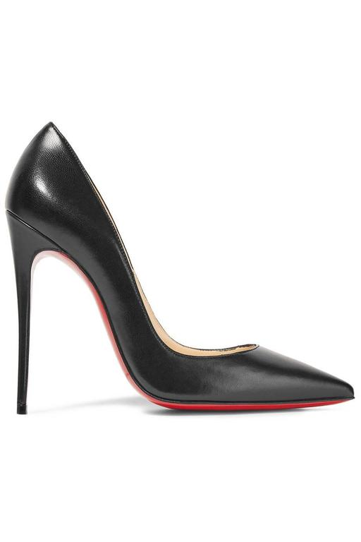 Christian Louboutin New Black Leather SO Kate High Heels Pumps in Box 4