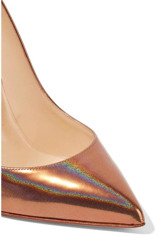 Christian Louboutin New Copper Leather Pigalle Follie High Heels Pumps in Box 3