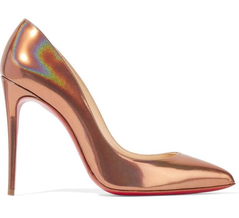 Christian Louboutin New Copper Leather Pigalle Follie High Heels Pumps in Box 4