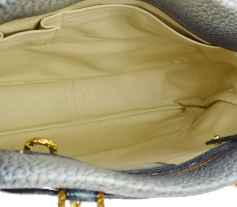 Louis Vuitton Limited Edition Blue Top Handle Satchel Tote Shoulder Bag in Box 7
