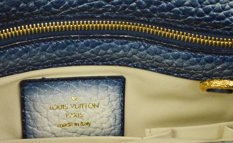 Louis Vuitton Limited Edition Blue Top Handle Satchel Tote Shoulder Bag in Box 8