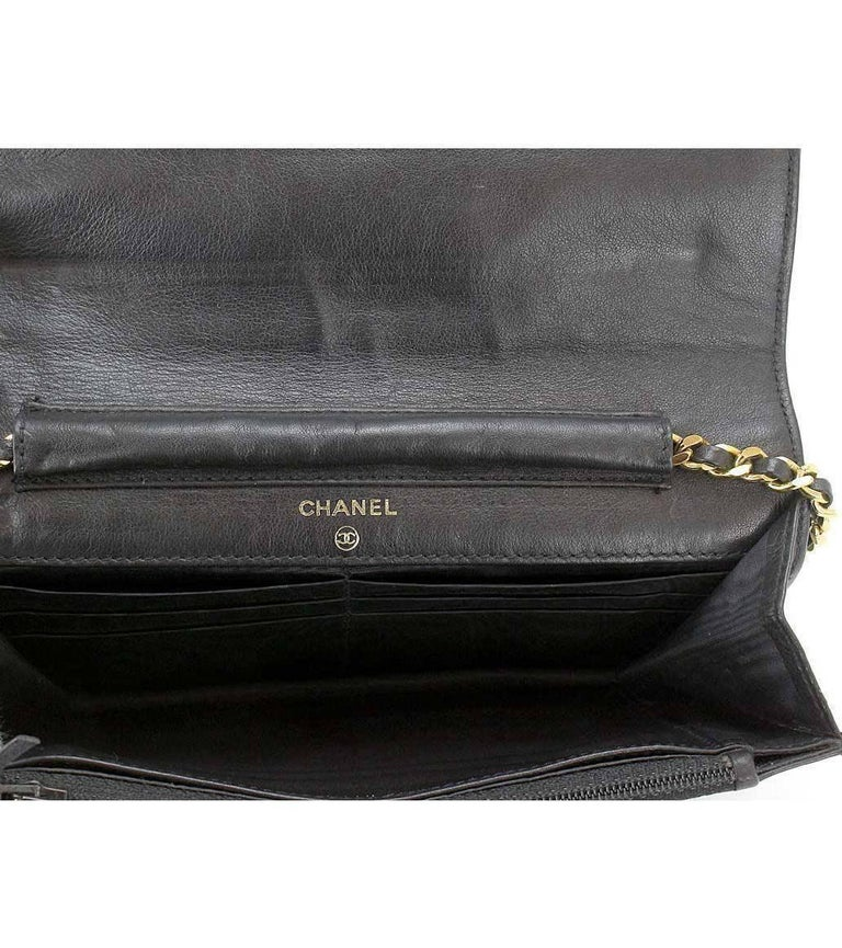 330b2cb11ea5 Chanel Caviar Wallet On Chain Woc Black Shoulder Bag Crossbody Sv