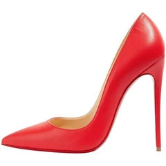 Christian Louboutin New Lipstick Red Leather So Kate High Heels Pumps in Box