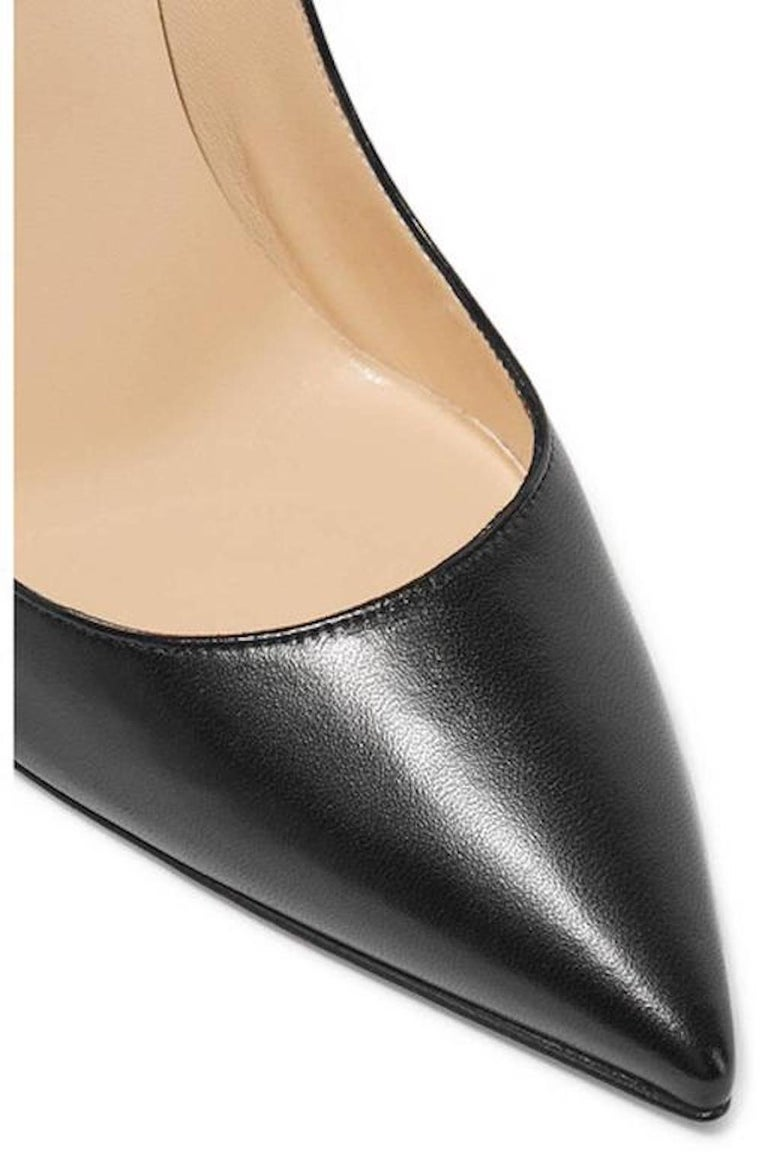 Christian Louboutin New Black Leather SO Kate High Heels Pumps in Box  3