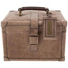 Brunello Cucinelli Men's Women's Brown Suede Top Handle Satchel Travel Case
