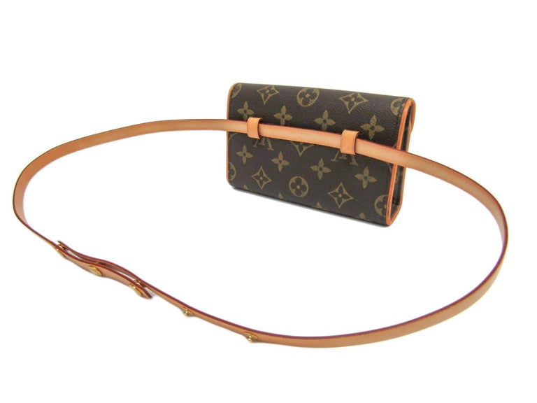 Louis Vuitton Monogram Men's Women's Fanny Pack Waist Belt Bag For Sale 2