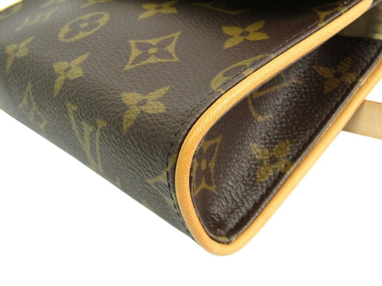 Louis Vuitton Monogram Men's Women's Fanny Pack Waist Belt Bag For Sale 3